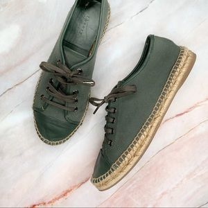 Theory Green Espadrille Leather Sneakers 39